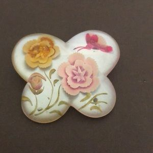 Jewelry - Flower and Butterfly Brooch